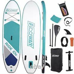 10ft Paddle Board Stand Up Sup Gonflable Pump Paddleboard Kayak Adulte Débutant