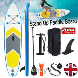 10ft Paddle Board Sup Gonflable Sports Surf Stand Up Racing Sac Pompe Eau D'aviron