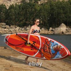 11' Gonflable Stand Up Paddle Board Ajustable Fin Paddle Avec Kit Complet
