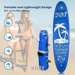 11ft 335cm Gonflable Sup Stand Up Paddle Board Sports Surf Water Racing Pump