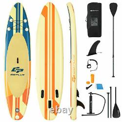 11ft Gonflable Stand Up Paddle Board Sup Surfboard Ajustable Non-slip Deck