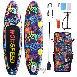 11ft Gonflable Stand Up Paddle Board Sup Surfboard Ajustable Non-slip Deck Set