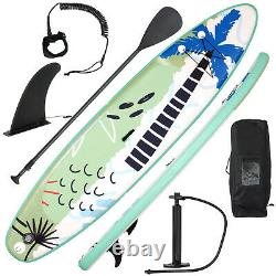 11ft Gonflable Stand Up Paddle Board Sup Surfboard Réglable Antidérapant Avec Pompe