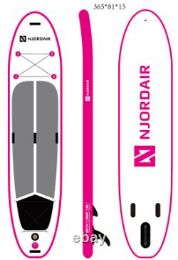 12' (3.65m) Long Njordair Gonflable Stand Up Paddle Board Livraison Rapide