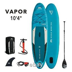 2021 Aqua Marina Vapor Gonflable Stand Up Paddleboard 10'4'' Avec Pagaie