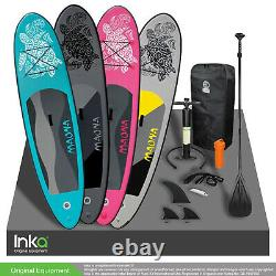 A+ Moana 10 Ft Gonflable Stand Up Paddle Surf Board Kayak Incl Accessoires