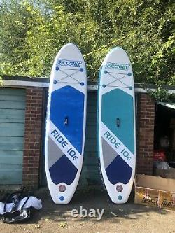 Acoway Deuxième Main Gonflable Stand-up Paddle Board Avec Pompe À Main Et Sac De Voyage