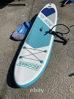 Acoway Inflapable Stand Up Paddle Board, 10'6 ×32/33 × 6 Plus Pompe