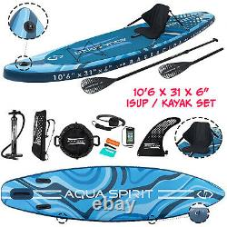 Aqua Spirit 10'6 X 33 X 6 Gonflable Premium Sup Stand Up Paddle Board Kayak Set