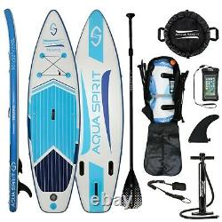 Aqua Spirit 10' Isup Premium Gonflable Stand Up Paddle Board Top Accessoires