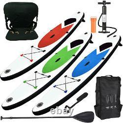 Bâton Gonflable Haut Paddle Board 305cm Sup Avec Pompe À Cheville Sac De Transport / Siège