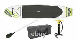 Bestway Hydro Force Wave Edge 10-ft Gonflable Stand Up Paddle Board Set, Vert