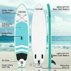 Caroma Gonflable Stand Up Paddle Board Sup 10ft Bleu Avec Paddle, Pump & Bag Uk