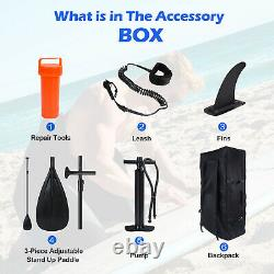 Conseil De Paddle Gonflable Sup Surf Surfboard Stand Up Bag Pump Oar Water Racing Uk