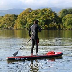 Conwy Kayak Gonflable Red Sup Stand Up Paddle Board 9'5 / 10'6 Pompe Paddle