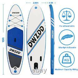 Ensemble De Planches De 10' Sup Stand Up Paddle Gonflable Surfboard Paddling 305 CM Surfbrett