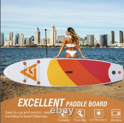 Extra Wide Sup Paddle Board Stand Up Inflatable Sports Surfboard Kit Set Uk
