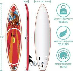 Funwater 116 Long 34 Large 6 Épais Gonflable Stand Up Paddle Board Sup Board