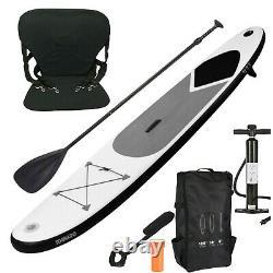 Gonflable 10.5ft Stand Up Paddle Board Sup Surf Avec Pompe Sac De Transport Strap / Siège
