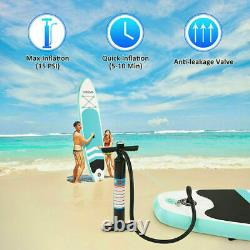 Gonflable Paddle Board Sports 10ft Sup Surf Stand Up Water Float Bag Pump Oar
