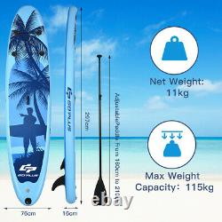 Gonflable Sup Stand Up Pvc Paddle Board Sports Surf Eau Isup 297x76x15cm