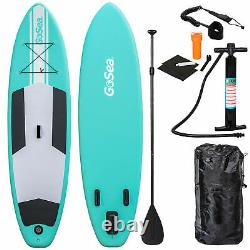 Gosea Sup 10ft Gonflable Stand Up Paddle Board + Pompe + Paddle Bag 6 Exercice
