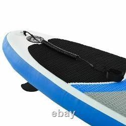Homcom Gonflable Stand Up Paddle Board Sup Accessoires Bleu