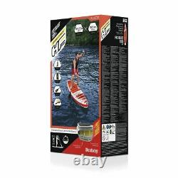 Hydro-force Bestway Fast Blast Sup Set Gonflable Stand Up Paddle Board, 12 Pieds 6