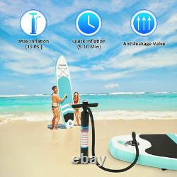 New 10ft Gonflable Stand Up Paddle Sup Board Surfing Surf Board Paddleboard Uk