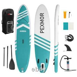 Nouveau 10'6 Paddle Board Gonflable Stand Up Surfboards Sup 6 Thick Full Set Uk