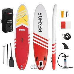 Nouveau 10'6x32x6 Stand Up Paddle Board Gonflable Surfboards Sup Ensemble Complet Rouge