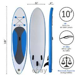 Paddle Board Sup 10ft Gonflable Sports Surf Stand Up Racing Bag Pump Oar Water