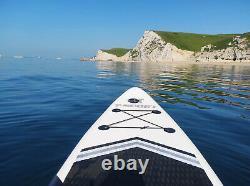Panneau De Paddle Gonflable Stand Up Paddleboard 106 Ft Surfboard Non-slip Noir