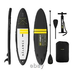 Planche Gonflable Sup Stand Up Paddle Board + Paddle 3 Palmes 135kg Noir/jaune