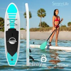 Serene-life 10,5 Ft Gonflable Stand Up Paddle Board (sup) Avec Accessoires