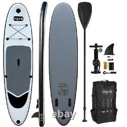 Sup Planche Gonflable 3.2m Hiks 10ft6 Bataillon Grey Stand Up Paddle Board Set