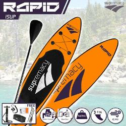 Supremacy 2021 Rapide Gonflable Stand Up Paddle Board Isup Sup 325x81x15 10,6ft