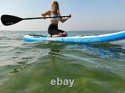T-sport Gonflable Stand Up Paddle Board Sup Accessoires Bleu Jour Suivant Livraison