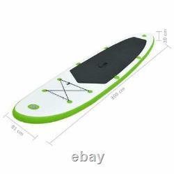 Vidaxl Gonflable Stand Up Paddle Set De Tableau Vert Et Blanc Sup Set De Tableau
