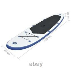 Vidaxl Stand Up Paddle Board Set Gonflable 390cm Blue And White Sup Board Set