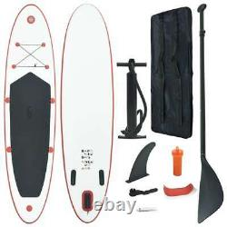 Vidaxl Stand Up Paddle Board Set Gonflable 390cm Red And White Sup Board Set