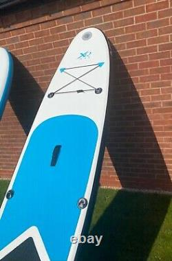Xq Sup Gonflable Stand Up Paddle Set De Tableau Bleu